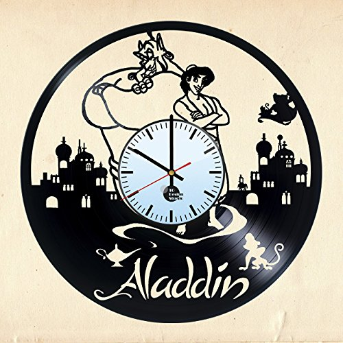 ALADDIN-ANIMATION-HANDMADE-Vinyl-Record-Wall-Clock-Get-unique-home-kids-room-wall-decor-Gift-ideas-for-friend-kids-teens-Disney-Unique-Art-Leave-us-a-feedback-and-win-your-custom-clock