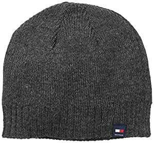 Tommy Hilfiger Men's Basic Hat with Sewn On Tab, Charcoal, One Size