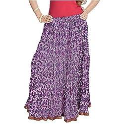 SHREEMANGALAMMART Ethnic Multi Floral Pure Cotton Skirt(Multi)(SMSKT563)