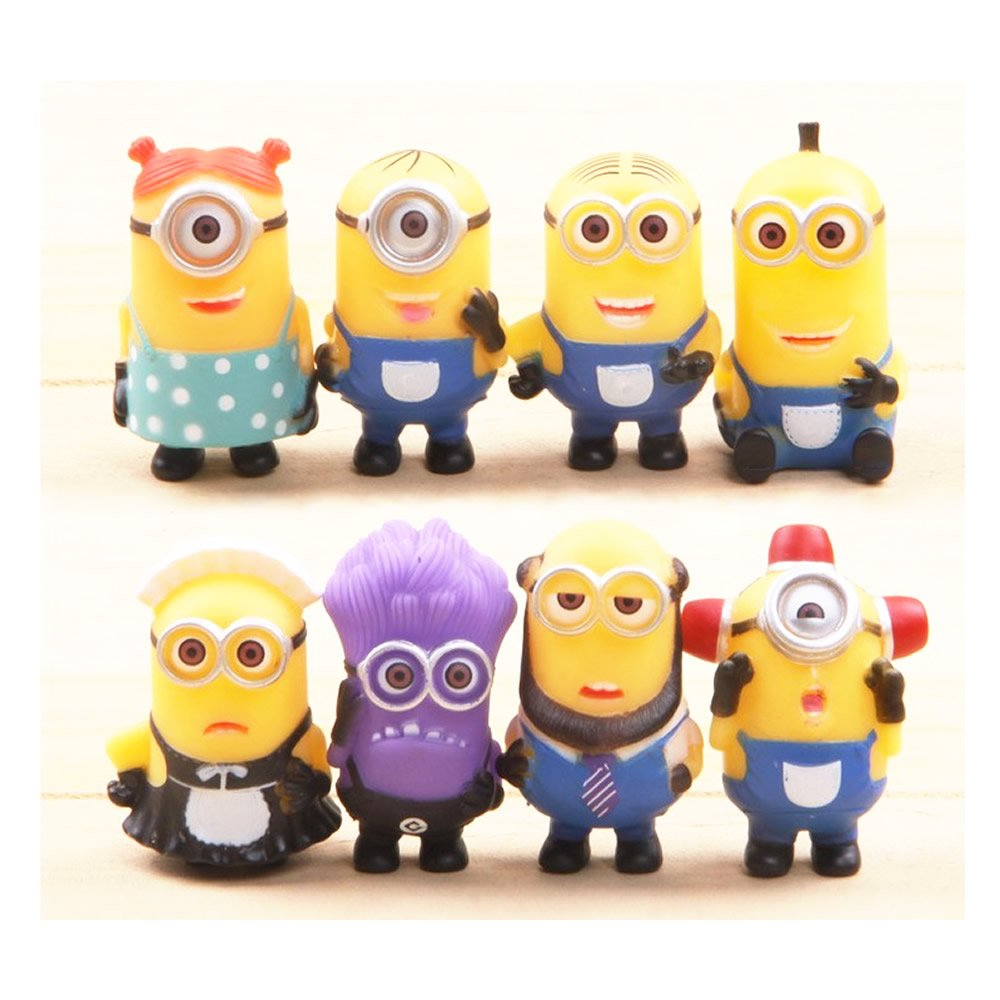 Despicable Me 2 The Minions Role Figure Display Toy PVC 8Pcs Set