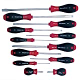 Wiha 30297 12-Piece Slotted and Phillips Screwdriver Set with Soft Finish Handles