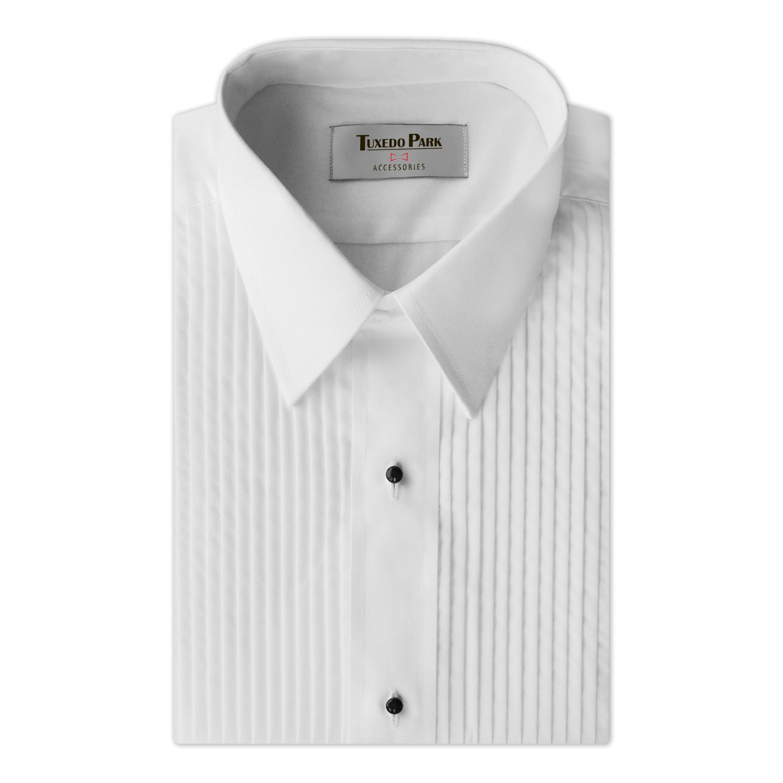 Tuxedo Shirt- White 14   Pleat Tuxedo Shirt