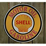 Shell Gasoline Motor Oil Retro Vintage Tin Sign - 12x12 , 12x12