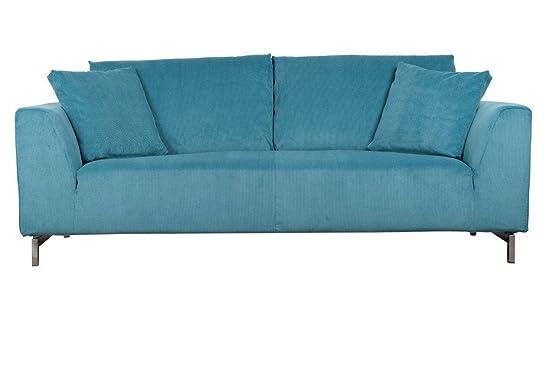 Zuiver 3200001divano tessuto blu 210x 93x 85cm