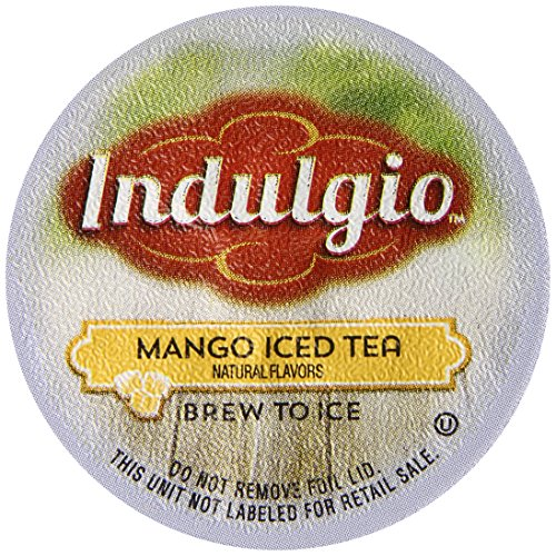Indulgio Mango Iced Tea Single Serve For Keurig K-Cup Brewers, 12 Count (Pack Of 6)