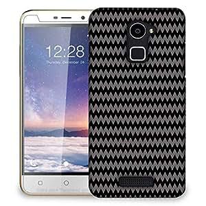Snoogg grey black wave 2457 Designer Protective Back Case Cover For Coolpad Note 3 Lite