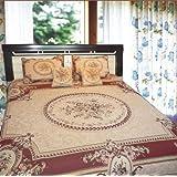 DaDa Bedding YFJF-D-001-3 5-Piece Elegant Chenille Woven Bedspread, Queen, Red
