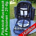 Picknick Set + Rucksack Picknicktasch...