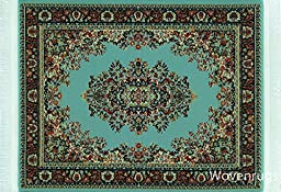 Blue Woven Rug Mouse Pad - Persian Style Mouse Mat