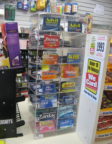 Single Dose Medicine Dispenser for Your Countertop Drug Retail Displays Packets of Advil, Tylenol, Aleve, Dayquil, Nyquil, Alka-seltzer, Motrin, Excedrin and Much More a Total of 14 (Convenience Store compare prices)