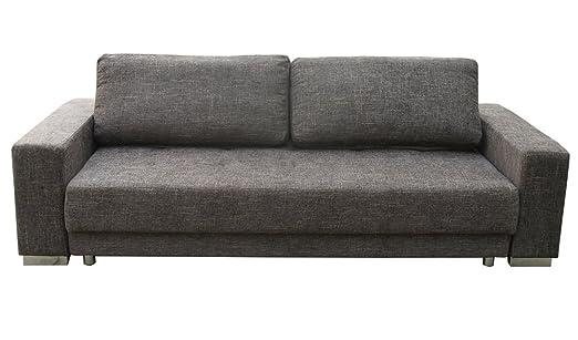 1A 3-er Schlafsofa Polster Couch mit Bettfunktion Federkern braun