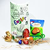 Lindt Easter Pouch - Bunny, Carrot, Eggs, Lamb and Paw - By Moreton Gifts