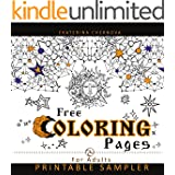Free Coloring Pages For Adults: Printable Sampler (Detailed Design And Mandala Coloring Books For Adults)