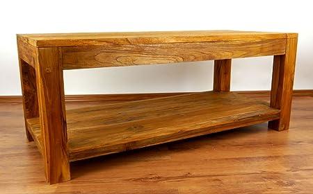 Java Couchtisch | Recyceltes Bootsholz | Asiatischer Wohnzimmertisch mit Ablage | Designer Möbel aus Bootsholz | Massivholztisch der Marke Asia Wohnstudio | Kaffeetisch aus Bootsholz | Beistelltisch