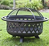 Wood-Burning-Fire-Pit-Outdoor-Furniture-Background-Patio-Outside-Grill-Grate-Cover