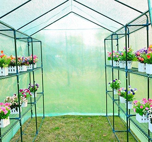 Homcom invernadero caseta 244 x 182 x 213 cm jardin - Invernaderos para terrazas ...