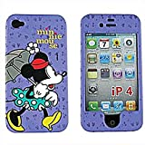 【iPhone4S 対応】日本未発売  iPhone4 USAディズニー オフィシャル ハードケース ミニーマウス パープル