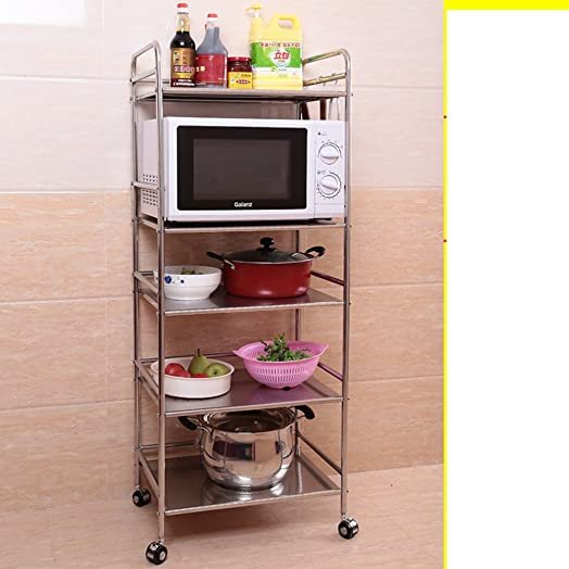 Cremagliere in acciaio inox/scaffalature cucina/Bagno rack di stoccaggio/Quarti di bagno mensola in metallo-S