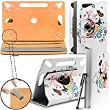 New Design Universal Leather 360 degree Rotating Stand Case Cover For Kindle Fire HD 7-inch Tablet PC - Butterfly Tree ( Designer Folio Android Colourful Luxury Protective 7' Tab Flip Skin ) by Gadget Giant®