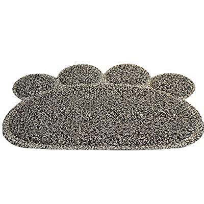 Sonnyridge Premium Cat Litter Box Mat and Food Mat - Scatter Control, No Track, Gray Cat Litter Mat Was Designed for Small Kittens to Large Cats to Keep the Litter on the Mat. Great for a Cat Food Mat.