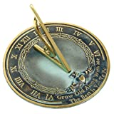 Rome RM2308 Brass Sundial &quot;Grow Old With Me&quot;