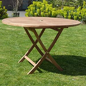 teak furniture dining table wooden outdoor folding round