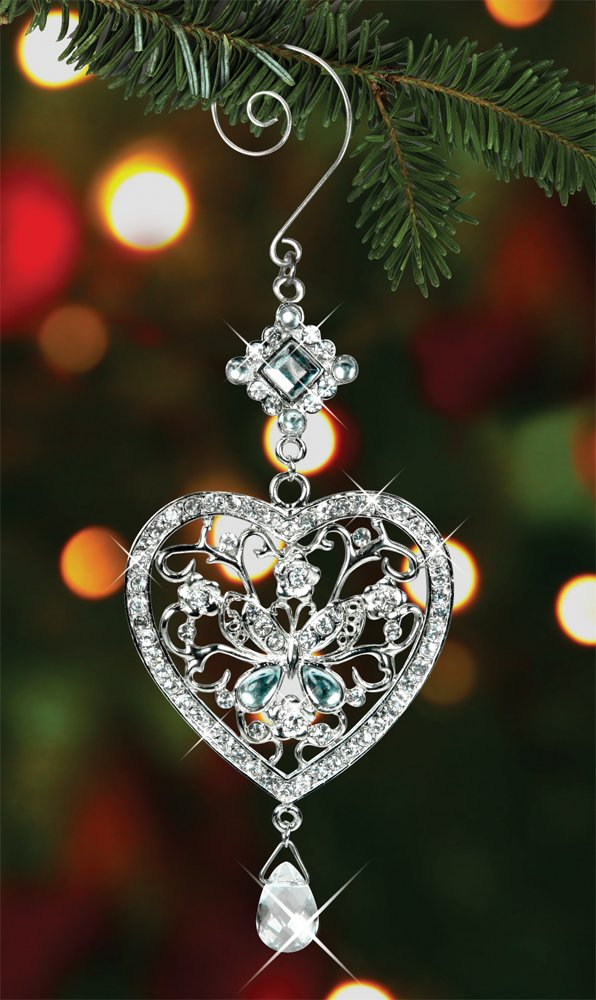 Crystal christmas tree ornaments fel