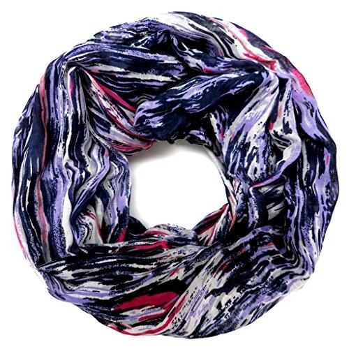 accessu-Echarpe-Foulard-pour-Femme-modern-Smudge-Line-Design-purplebluepink