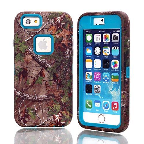 iPhone 6 Case,SAVYOU Fashion 3in1 Hybrid Style Colorful Tree Painted Hard Soft Design Case Back Cover Protector iPhone 6 Case Cover for iPhone 6 4.7 inch(Blue) (Iphone 6 3in1 Hard Hybrid Case compare prices)