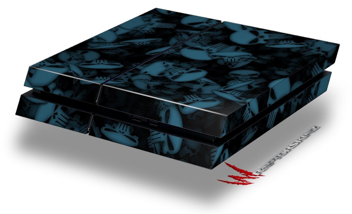 Skulls Confetti Blue - Decal Style Skin fits original PS4 Gaming Console wood grain oak 01 holiday bundle decal style skin set fits xbox one console kinect and 2 controllers xbox system sold separately