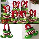 6Pcs/Lot Christmas Decoration 2017 New Christmas Candy Bags Candy Bags Christmas Gift Bag Decoration Supplies New Year SD36