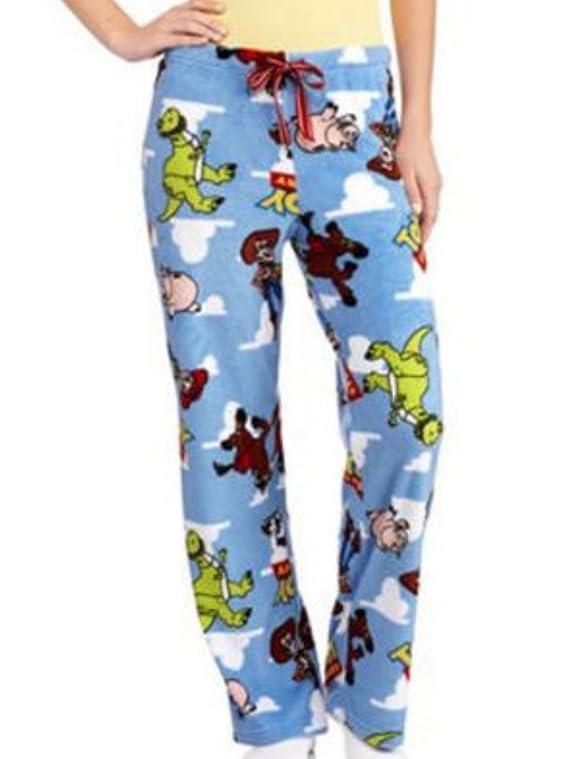 Disney Womens Plush Blue Toy Story Sleep Pants Fleece Woody Pajama Bottoms PJs
