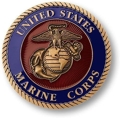 "Marine Corps Adhesive Medallion 1 3/4"" - 1"