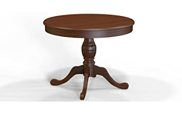 Selva SPA Epoca Mirabeau 8029853000755 Wood Dining Table Classic and Elegant with Walnut Finish, 100 - 130/ 77 cm Dia, 2-Piece, Brown