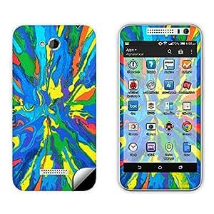 Skintice Designer Vinyl Skin Sticker for HTC Desire 616, Design - colorful pattern