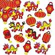 Autocollants Nouvel an chinois que les enfants pourront utiliser pour d�corer les cartes et loisirs cr�atifs (Lot de 100)