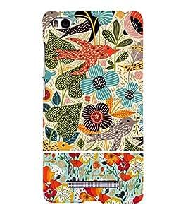 Floral Pattern Back Case Cover for Xiaomi Redmi Mi4i::Xiaomi Mi 4i