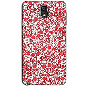 RED DESIGN PATTERN BACK COVER FOR SAMSUNG GALAXY NOTE 3