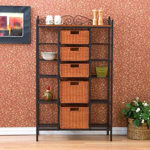 "Southern Enterprises (SEI) KA9161 - ""Manilla"" 5 Drawer Baker's Rack"