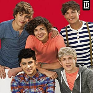 Official One Direction 1d Red Greeting Card - Blank Birthday Greeting Christmas Thank You by Global Merchandising