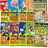 Nick Arnold Horrible Science 10 books collection(Vicious Veg, Ugly Bugs, Space stars and slimy aliens, Nasty Nature, Evil Inventions, Disgusting Digestion, Deadly Diseases, Chemical Chaos, Bulging Brains, Blood, bones and body bits)