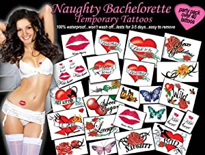 naughty bachelorette hen party tattoos toys games
