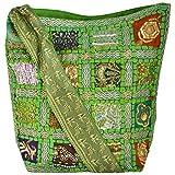 Khatri Handicrafts Women's Handbag (Green)