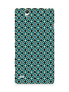 Amez designer printed 3d premium high quality back case cover for Sony Xperia C4 (brown pattern)