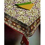 Ocean Collections - Panache Collection Red Floral Printed Table Cover Bed Spread-bed Cover Bed Sheet Table Cover...