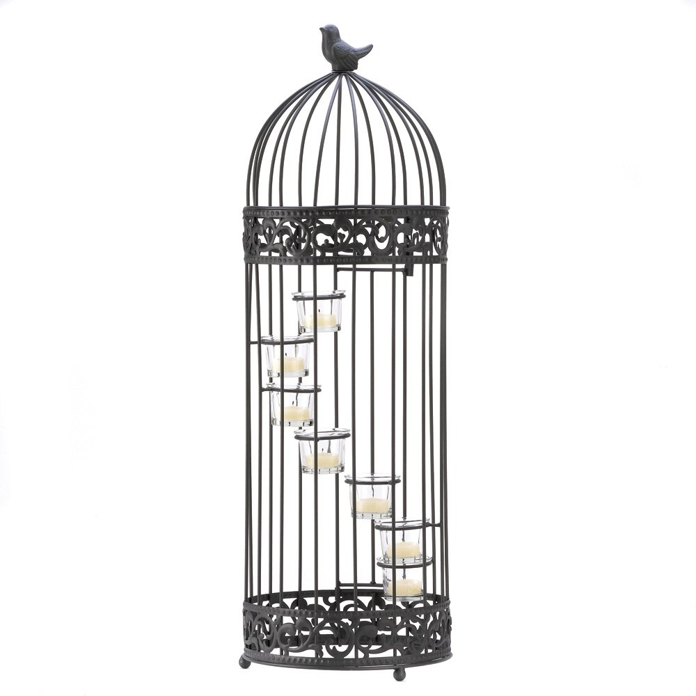 Gifts & Decor Birdcage Style Staircase Tealight Candle Holder Stand 0