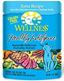 Wellness Healthy Indulgence Natural Grain Free Wet Cat Food, Tuna, 3-Ounce Pouch (Pack of 24)