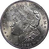 1921 U.S. Morgan Silver Dollar Coin, Brilliant Uncirculated Condition