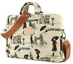Kinmac Laptop Shoulder Bag for 13 Inch Laptop and Macbook Air 13 Macbook Pro 13 Case (London lady Briefcase with strap, 13 inch/13.3 inch/macbook pro 13/macbook air 13)
