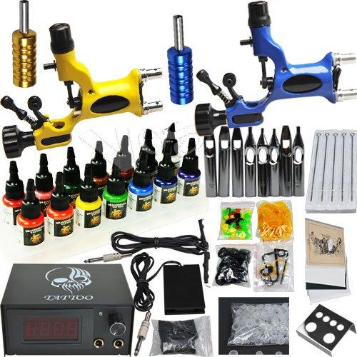 professional complete tattoo kit 2 top rotary machine gun